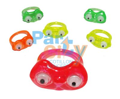 anillos ojitos de plastico x12