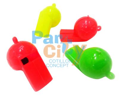 silbatos de plastico pelota x12