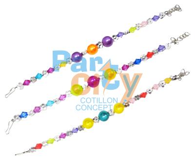 blister pulsera niña perlas multicolor