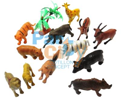 ANIMALES DE LA SELVA CHICOS X12