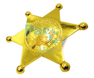 estrella sheriff de plastico dorada