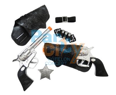 revolver con cartuchera