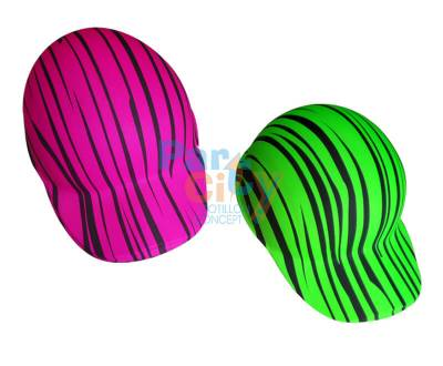 SOMBRERO CAP PVC FLUO CEBRA