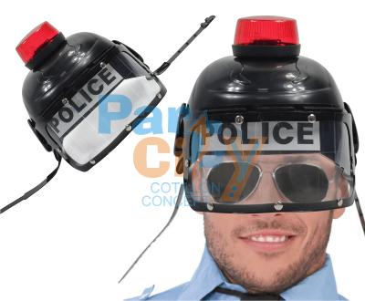 SOMBRERO DURO POLICIA CON SIRENA