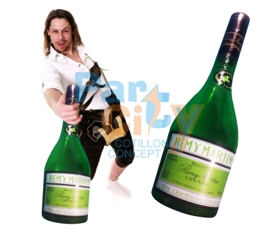 INFLABLE BOTELLA CHAMPAGNE 76 cm