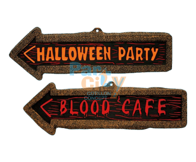 SIGN PVC HALLOWEEN 57x20 cm